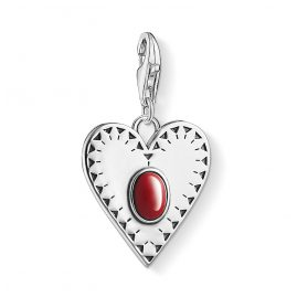 Thomas Sabo 1683-111-10 Charm-Anhänger Herz Rot