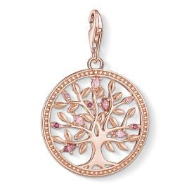 Thomas Sabo 1700-626-9 Charm-Anhänger Tree of Love Rosé