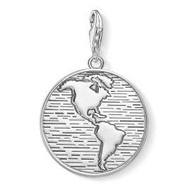 Thomas Sabo 1713-637-21 Charm-Anhänger Coin Welt