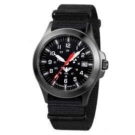 KHS BPT.NB Black Platoon Titanium Mens Watch Nato Strap Black