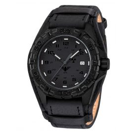 KHS REXT.R Mens Watch Reaper XTAC with Leather Strap G-Pad Black