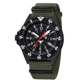 KHS SH.NO Mens Watch Shooter with Nato Band Olive