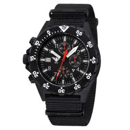 KHS SHC.NB Mens Watch Shooter Chronograph with Nato Band Black