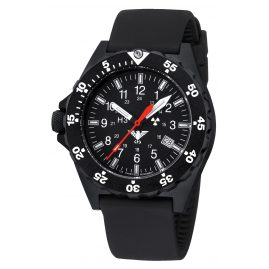 KHS SH.SB Mens Watch Shooter with Silicone Strap Black