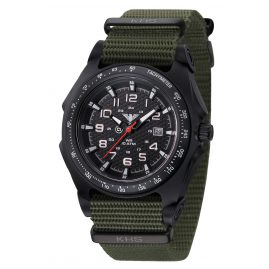 KHS SEAB.NO Mens Watch Sentinel A with Nato Band Olive