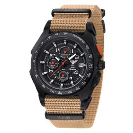 KHS SEACB.NT Mens Chronograph Sentinel AC with Natoband Beige