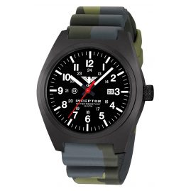 KHS INCBS.DC3 Men's Wristwatch Inceptor Black Steel