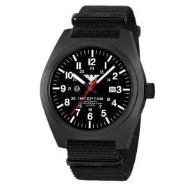 KHS KHS.INCBSA.NB Automatik-Herrenuhr Inceptor Black Steel Automatic