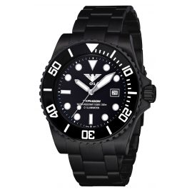 KHS TYBS.SSTYB Diving Wristwatch Typhoon Black Steel
