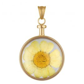 Blumenkind BL01MGOGE Damen Kettenanhänger Blume gold/gelb