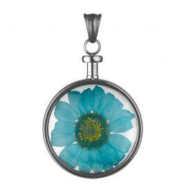 Blumenkind BL01MGRBL Blüten-Anhänger Grau/Blau