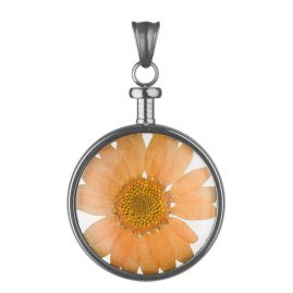 Blumenkind BL01MGROR Blumen-Anhänger Grau/Orange