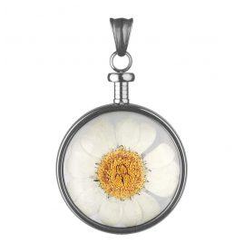 Blumenkind BL01MGRWH Damen-Anhänger Blüte Grau/Weiß