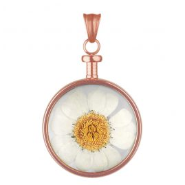Blumenkind BL01MROWH Anhänger Blüte roségold/weiß