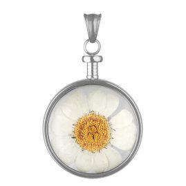 Blumenkind BL01MSSWH Kettenanhänger Blume Weiß