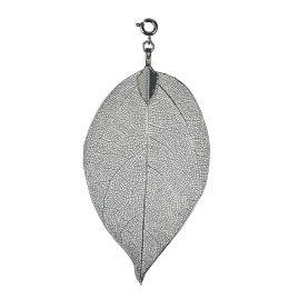 Blumenkind BL03MGR Damen-Kettenanhänger Blatt Grau M