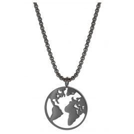 Blumenkind WBN01GR Damen-Halskette Weltenbummler Grau