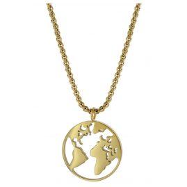 Blumenkind WBN01GO Halskette Weltenbummler Goldfarben