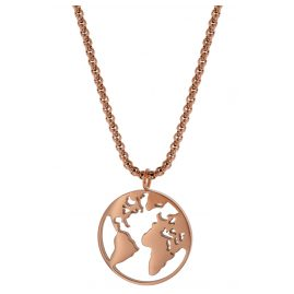 Blumenkind WBN01RO Ladies´ Necklace Globetrotter Rose Gold Coloured