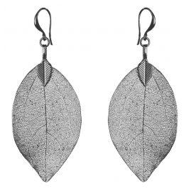 Blumenkind BLE03SGR Ohrringe Blätter Grau