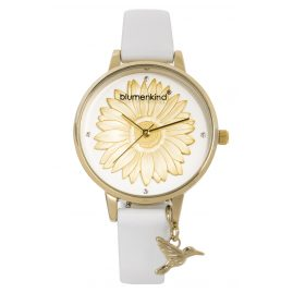Blumenkind 04091981GWHPWH Ladies' Wristwatch Gold/White