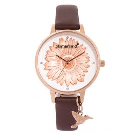 Blumenkind 04091981RWHPBR Ladies' Wristwatch Rose Gold/Cocoa Brown
