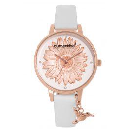Blumenkind 04091981RWHPWH Damenarmbanduhr Roségold/Weiß