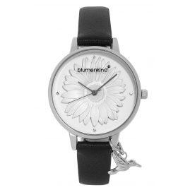 Blumenkind 04091981SWHPBK Damenarmbanduhr Silber/Schwarz