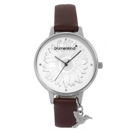 Blumenkind 04091981SWHPBR Ladies' Wristwatch Silver/Cocoa Brown