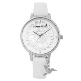 Blumenkind 04091981SWHPWH Ladies' Wristwatch Silver/White