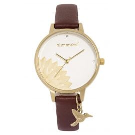 Blumenkind 13121989GWHPBR Ladies' Wristwatch Pennsylvania Gold/Cocoa Brown
