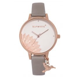 Blumenkind 13121989RWHPGR Ladies' Wristwatch Pennsylvania Rose Gold/Cashmere Grey