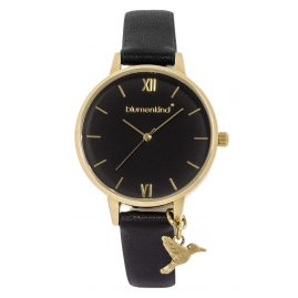 Blumenkind 20021988GBKPBK Ladies' Wristwatch Gold/Black