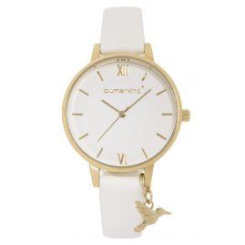 Blumenkind 20021988GWHPWH Damen-Armbanduhr Gold/Weiß