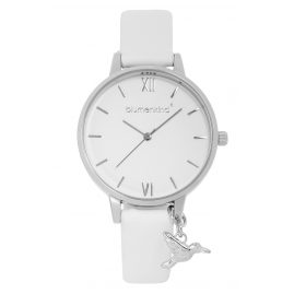 Blumenkind 20021988SWHPWH Ladies' Wristwatch Silver/White