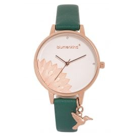 Blumenkind 13121989RWHPGN Ladies' Wristwatch Pennsylvania Rose/Green
