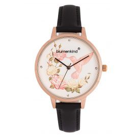 Blumenkind 15081969RWHPBK Ladies´ Watch Woodstock Rose Gold Tone/Black