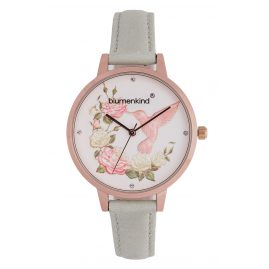 Blumenkind 15081969RWHPGR Ladies´ Watch Woodstock Rose Gold Tone/Light Grey