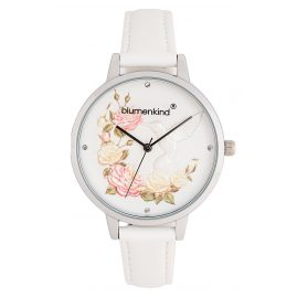 Blumenkind 15081969SWHPWH Ladies´ Watch Woodstock Silver-Tone/White