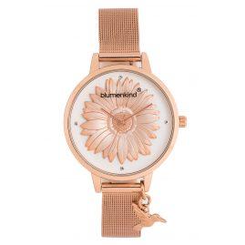 Blumenkind 04091981RWHSSRO Damen-Armbanduhr Houston mit Mesh-Armband