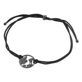 Blumenkind WBB01GR Damen-Armband Weltenbummler Grau