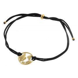 Blumenkind WBB01GO Damen-Armband Weltenbummler Goldfarben