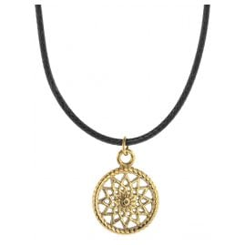 Traumfänger TFP01GOBK Ladies Necklace Petit black/gold