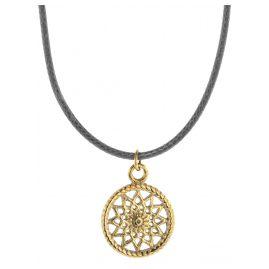 Traumfänger TFP01GOGR Damen-Halskette Petit grau/gold