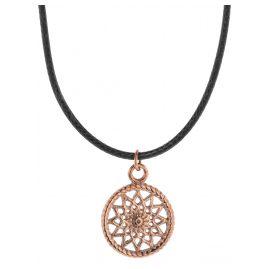Traumfänger TFP01ROBK Damen-Halskette Petit Schwarz/Rosé
