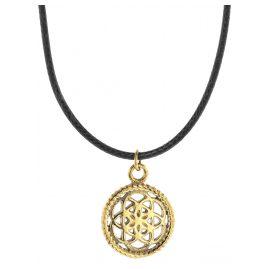 Traumfänger TFP02GOBK Halskette Petit schwarz/gold