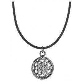 Traumfänger TFP02GRBK Damen-Halskette Petit schwarz/grau