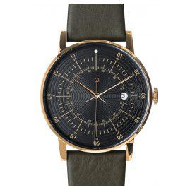 Squarestreet PS-38 Armbanduhr mit Rentier-Lederband Plano