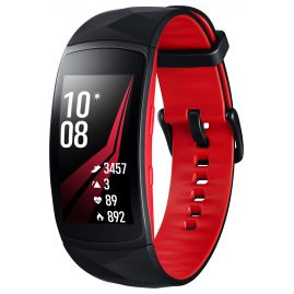 Samsung SM-R365 Fitnesstracker Gear Fit2 Pro Size L Black/Red