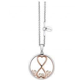 Astra P4410-ROCZ Ladies Necklace Infinity Heart